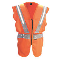 "Fhoss Illuminated Hi-Vis Vest Orange Small / Medium 38-42"" Chest"
