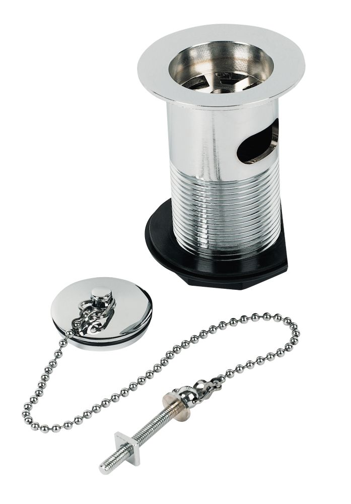 "Basin Waste with Chrome Plug & 10¼"" Chain"