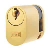 Eurospec Keyed Alike Single Oval Cylinder Lock 45- (45mm) Polished Brass