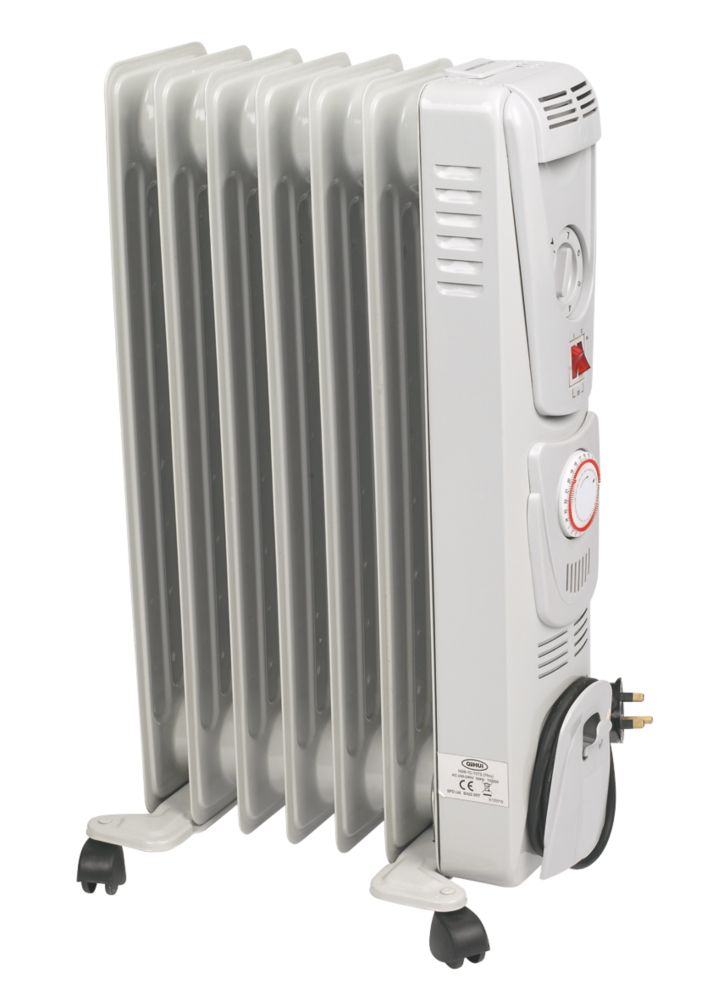 7 Fin Oil-Filled Radiator 1.5kW & Timer