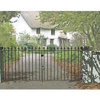 Metpost Montford Double Gate Black 1125 x 935mm 2 Pack