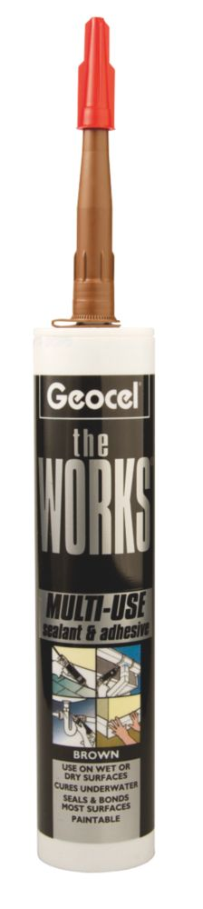 The Works Sealant & Adhesive Brown 290ml