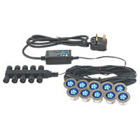 Apollo LED Deck Light Kit Blue 45mm 10 Pack