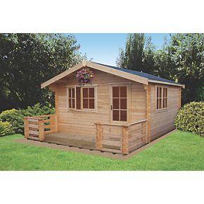 Shire Kinver Log Cabin 3 5 X 3 5m Log Cabins Screwfix Com