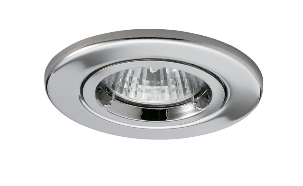JCC Fireguard Fixed Fire Rated Recessed Downlight Chrome 240V