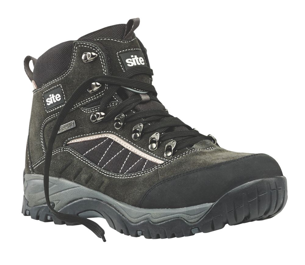 Site Quartz Safety Boots Grey Size 8