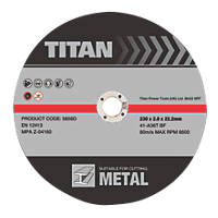 Titan Cutting Discs 230 x 2 x 22.23mm 3 Pack