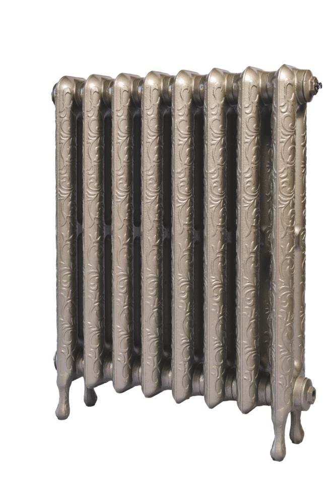 Cast Iron Art Nouveau 750 Designer Radiator Bronze H: 750 x W: 817mm