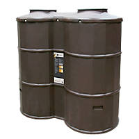 Polytank Poly Oil Tank Oak 1200Ltr
