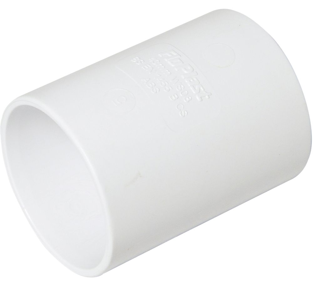 FloPlast Straight Coupler White 40mm Pack of 5