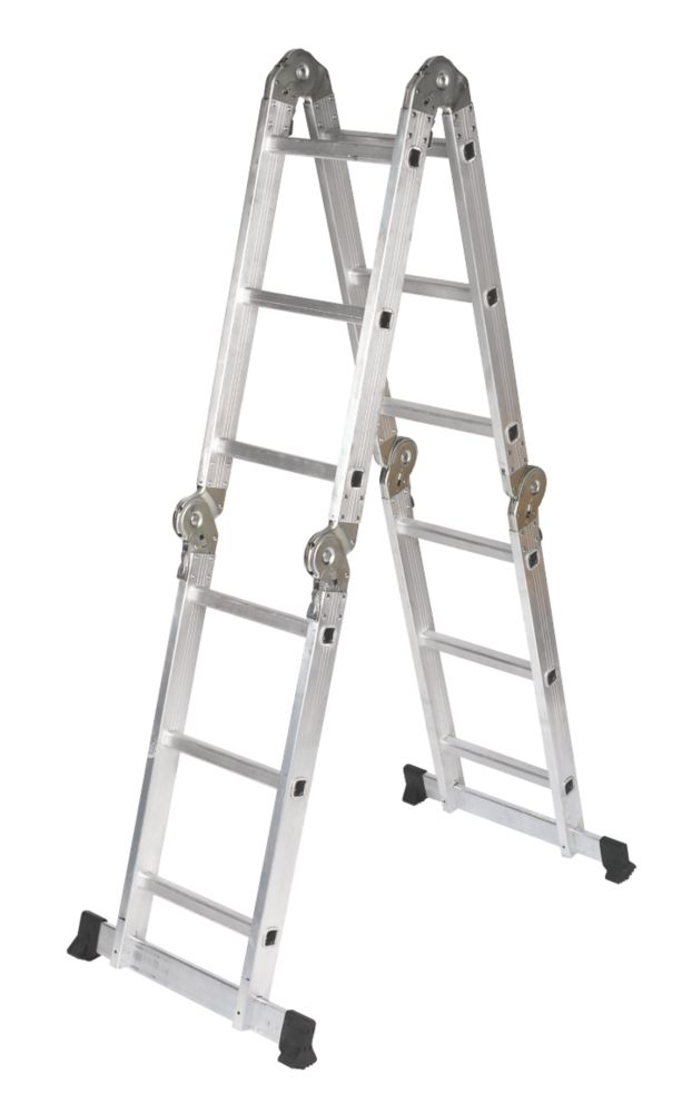 Multipurpose Ladder 4-Section 3-Rung 3.34m