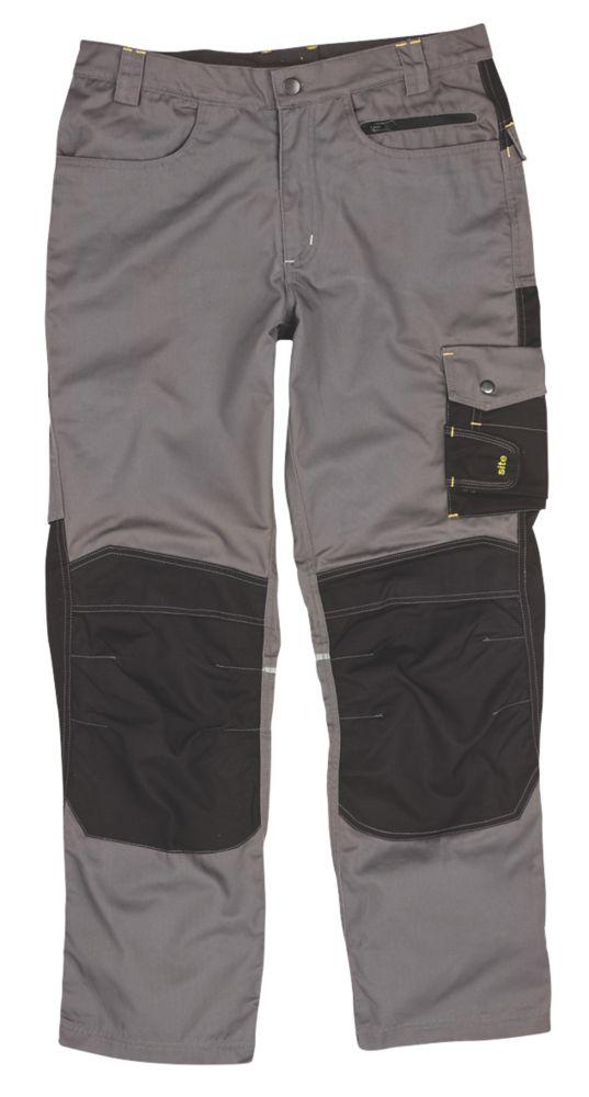 """Site Boxer Trousers Grey/Black W 38"""" L 32"""""""
