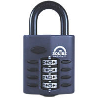 Squire Zinc Die-Cast Construction All-Weather Combi Padlock Black 40mm