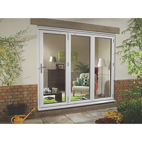 Euramax upvc fold slide double glazed patio door right for Upvc french doors 1790 x 2090mm
