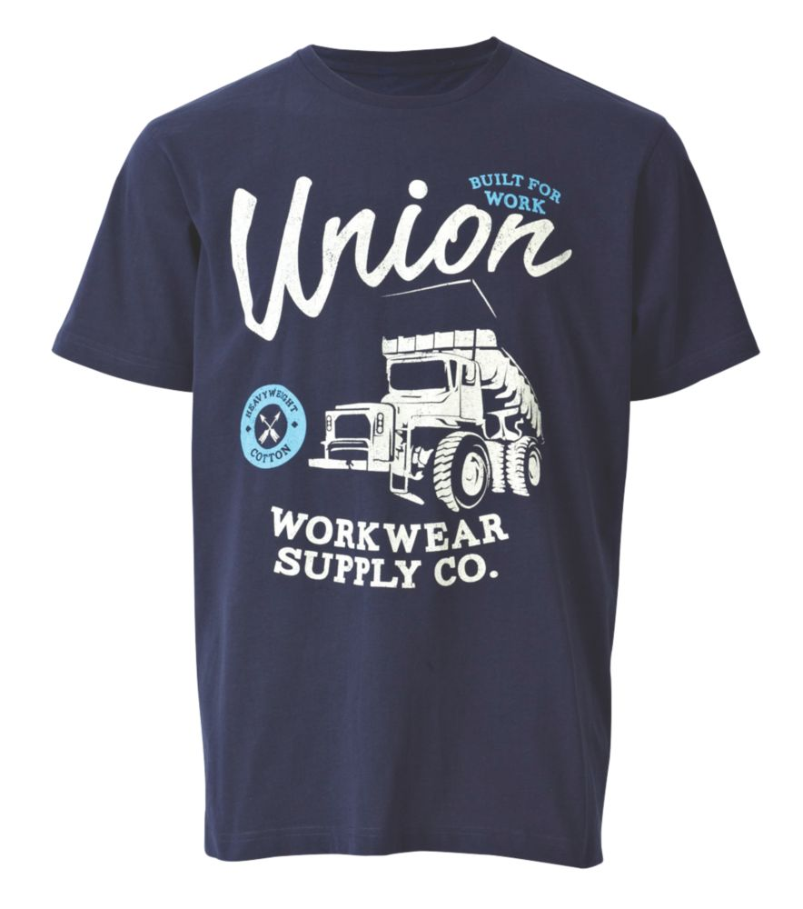 "Site Trucker T-Shirt Blue X Large 45-48"" Chest"