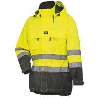 """Helly Hansen Hi-Vis Parka Jacket Yellow/Charcoal Medium 39"""" Chest"""