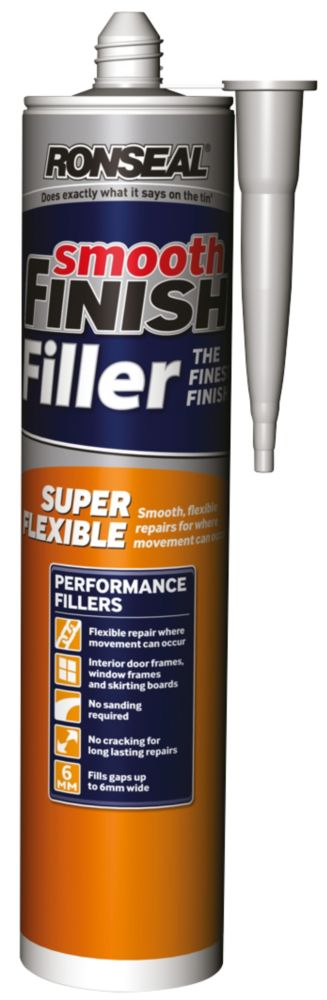 Ronseal Super Flexible Ready Mixed Wall Filler White 310ml