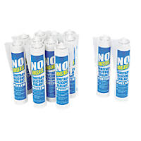 No Nonsense 11663402 Sanitary Silicone Clear 310ml 12 Pack