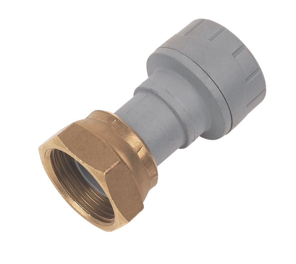 "PolyPlumb Straight Tap Connector 15mm x ¾"""