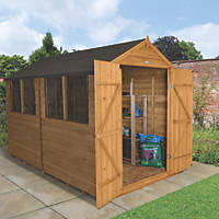 Forest 8' x 10' (Nominal) Apex Overlap Timber Shed with Assembly