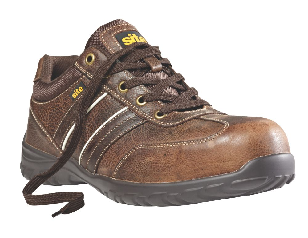 Site Rubble Safety Trainers Brown Size 8