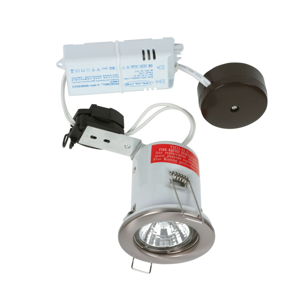 Halolite Fixed Round Satin Nickel 12V Low Voltage Fire Rated Downlight
