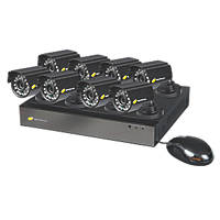 Nightwatcher NW-8AHD-1TB-C720-8B 8-Channel CCTV DVR Kit & 8 Cameras