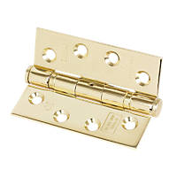 Grade 11 Ball Bearing Hinges Electro Brass 102 x 76mm 2 Pack