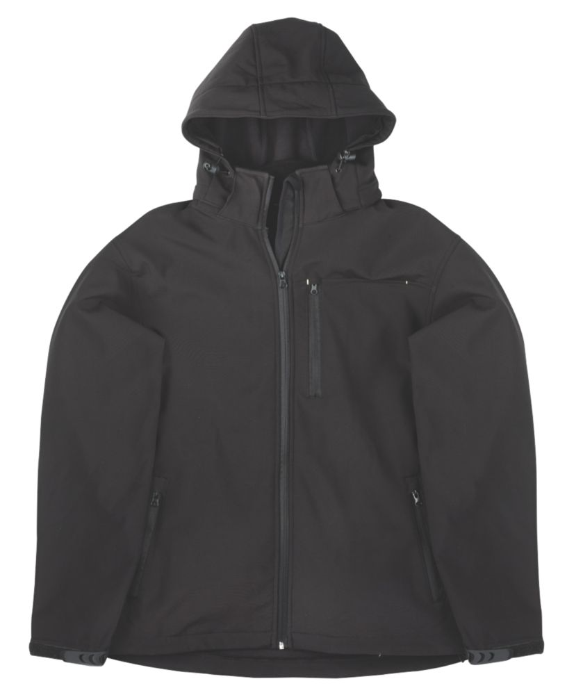 "Site Willow Soft Shell Jacket Black X Large 46-48"" Chest"