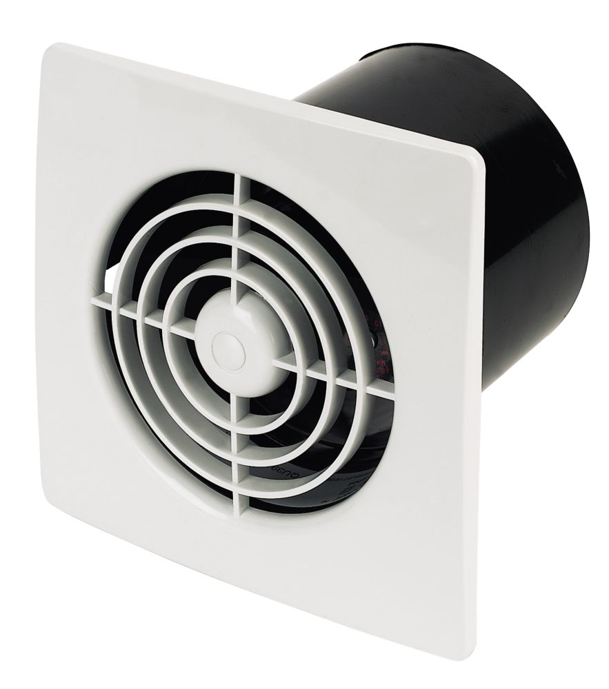 Manrose White Wall Mounted 20W Extractor Fan + Timer