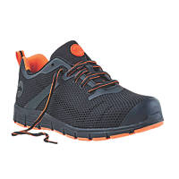 Site Flex Safety Trainers Black / Orange Size 10