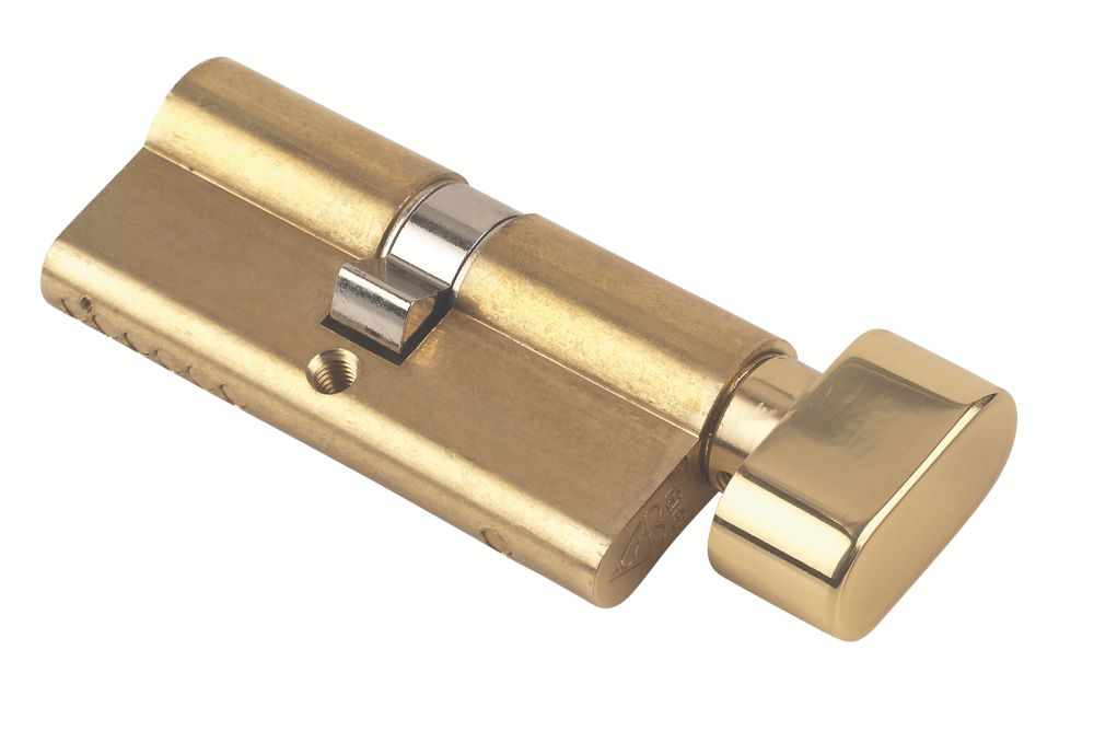 Yale KM Series Euro Thumbturn Cylinder Lock 35-35 (70mm) Polished Brass
