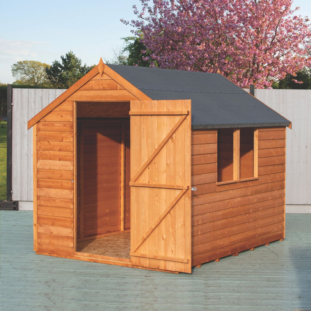 Shire Overlap Apex Shed 8 x 6 x 7' (Nominal)