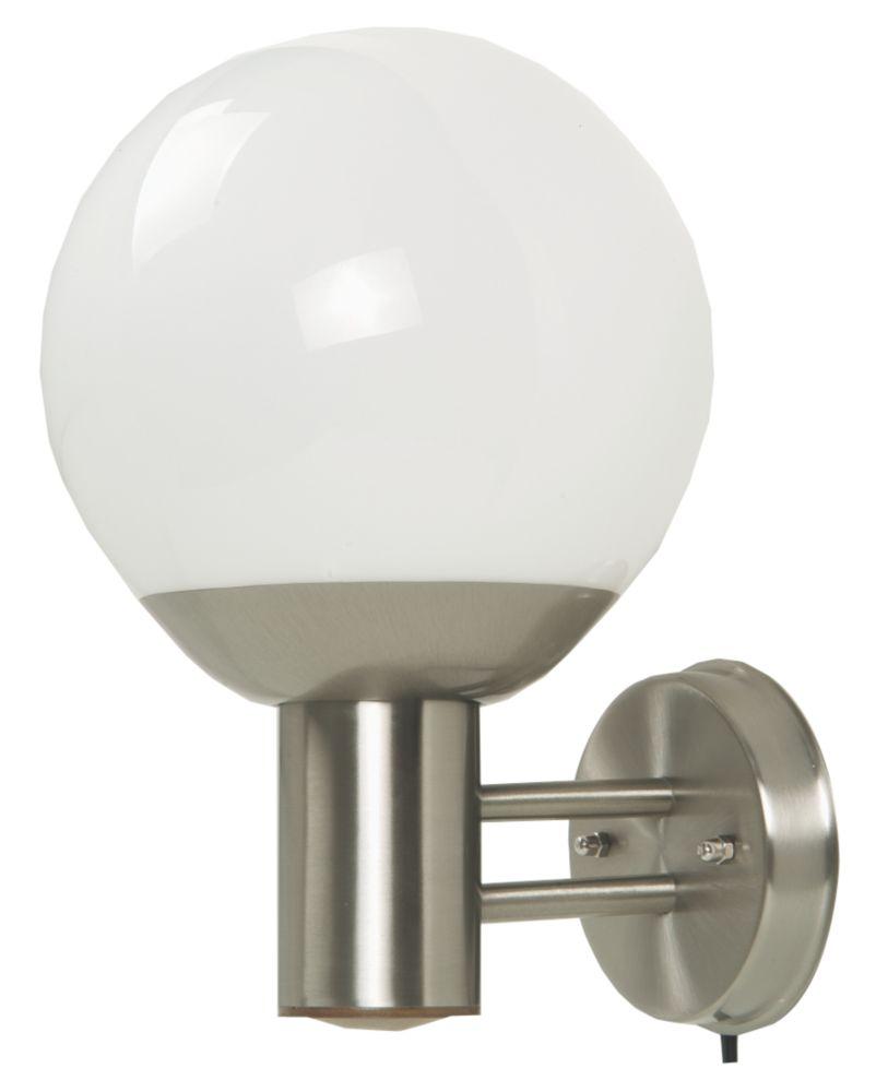Stainless Steel Globe Wall Lantern 13W
