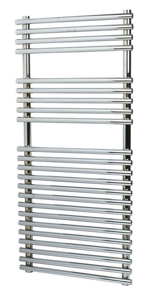 Kudox Flat Bar-on-Bar Towel Radiator Chrome 1100 x 500mm 476W 1624Btu