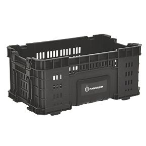 magnusson professional tool storage crate 22 plastic. Black Bedroom Furniture Sets. Home Design Ideas