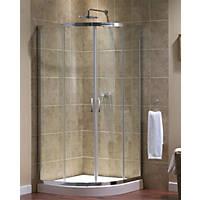 Aqualux  Quadrant Shower Enclosure  Silver 800 x 800 x 1850mm