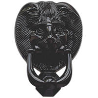 Fab & Fix Lions Head Door Knocker Black 98 x 136mm