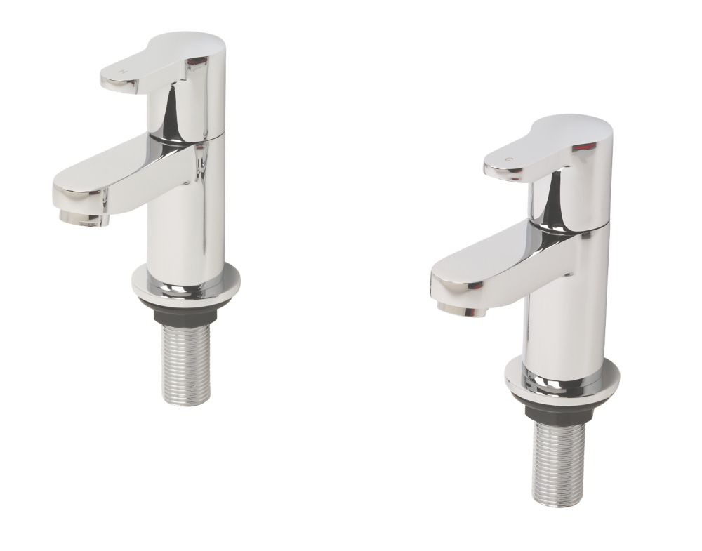 Swirl Elevate Bathroom Basin Taps Pair