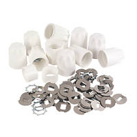 White Replacement Safety Radiator Valve Caps  10 Pack