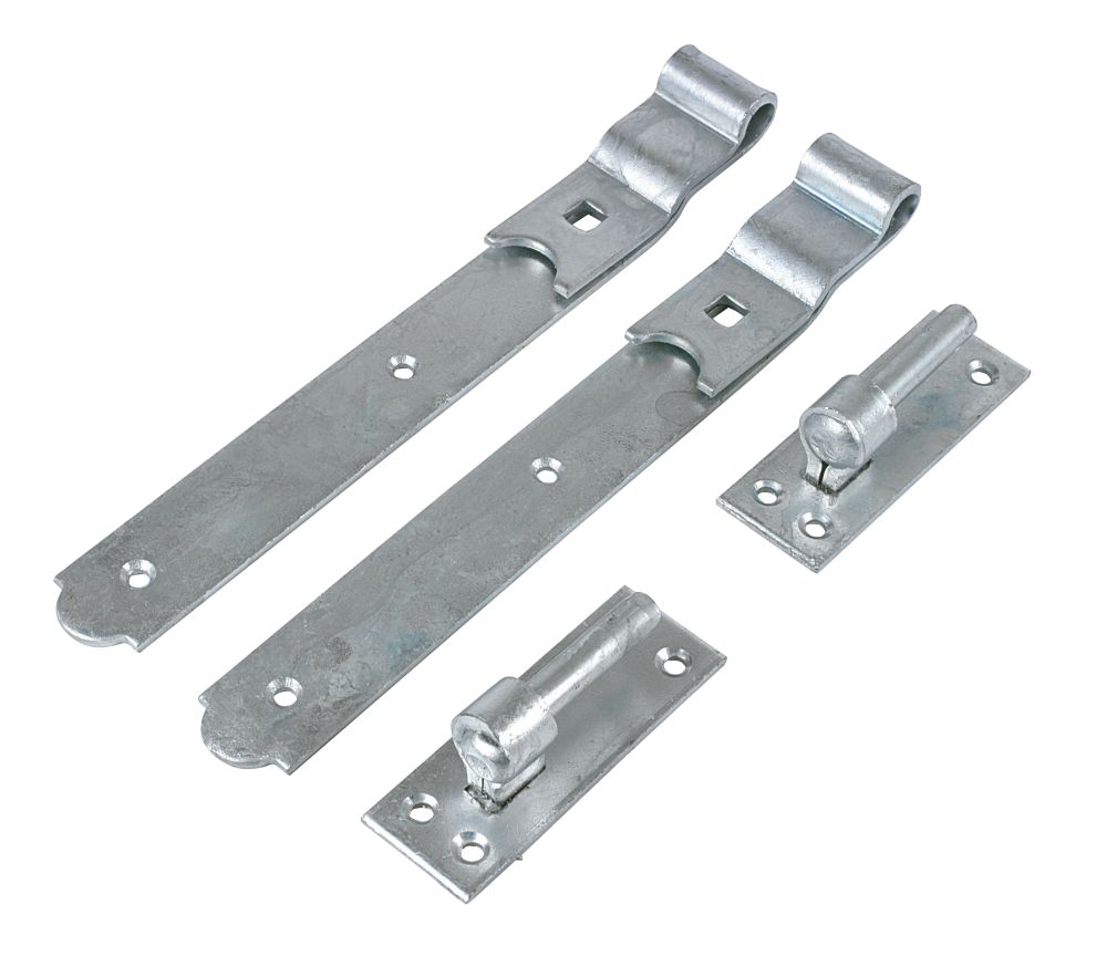 Gate Hinge Pr Cranked Spelter Galvanised 50x300x140mm