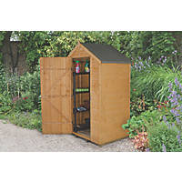 Forest 4' x 3' (Nominal) Apex Shiplap Timber Shed with Assembly