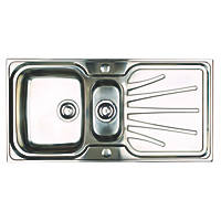 Astracast Kitchen Sink 18 / 10 Stainless Steel 1½ Bowl 1000 x 500mm