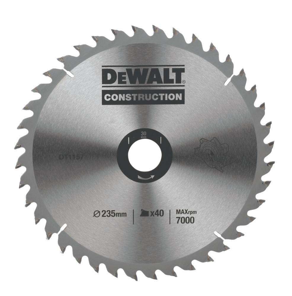 DeWalt DT1157-QZ Circular Saw Blade Portable 235 x 30mm 40T