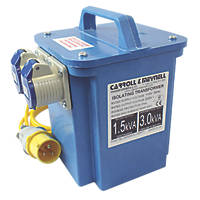 Carroll & Meynell Portable Step-Up Transformer with 2 Output Sockets 3kVA