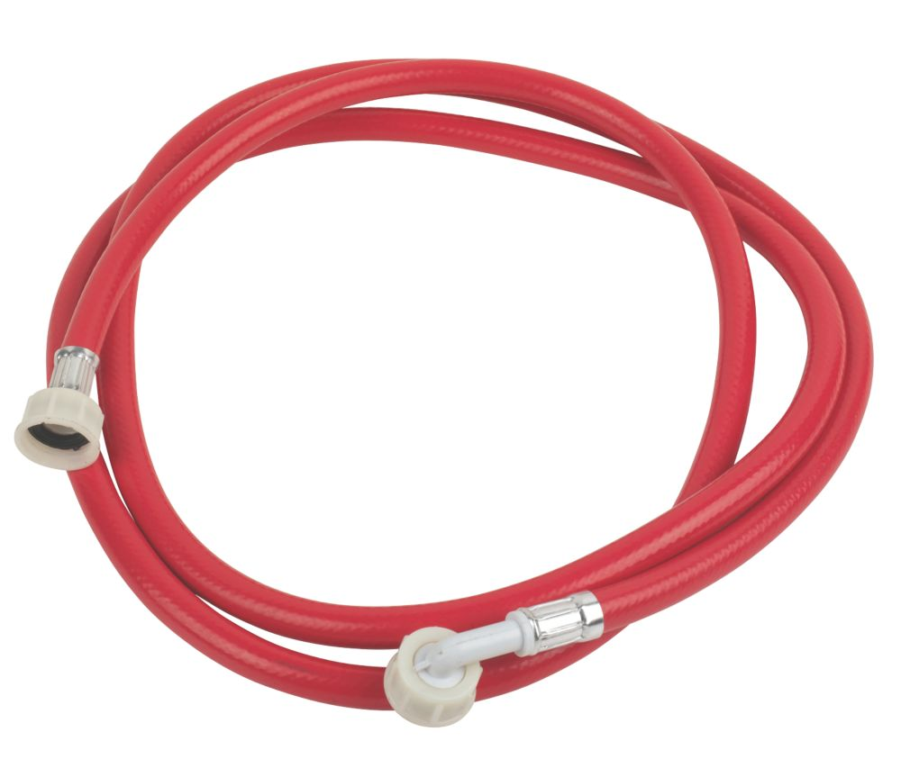 "Washing Machine Inlet Hose Red 2.5m x ¾"" BSP"