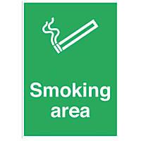 """Smoking Area"" Sign 300 x 500mm"