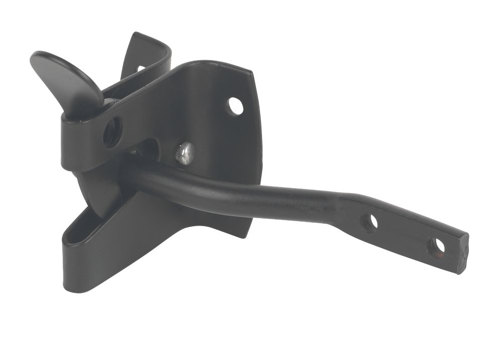 Garden Gate Latch Powder Coated Black 50mm