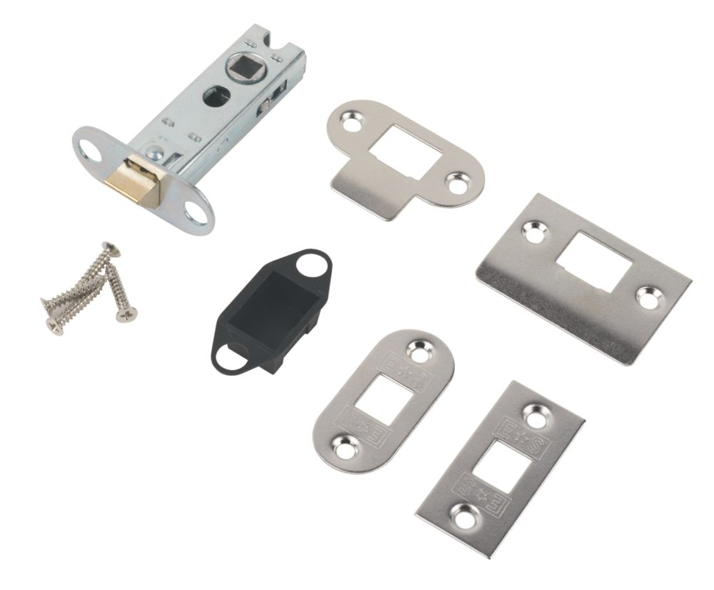 Carlisle Brass Tubular Mortice Latch Nickel Plate 76mm