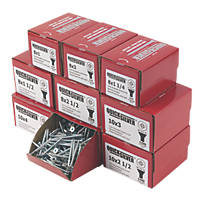 Quicksilver Woodscrews Trade Pack Double Countersunk 1400 Pcs